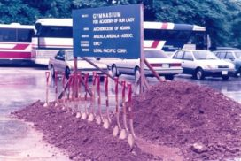 Ground breaking gymnasium